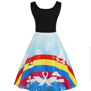 Dresses & Skirts - Pinup rainbow dress COMING SOON